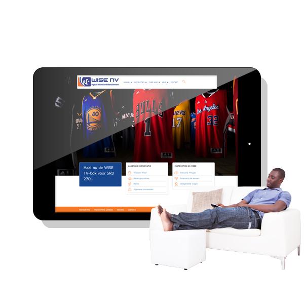 Wise, digitale tv entertainment website